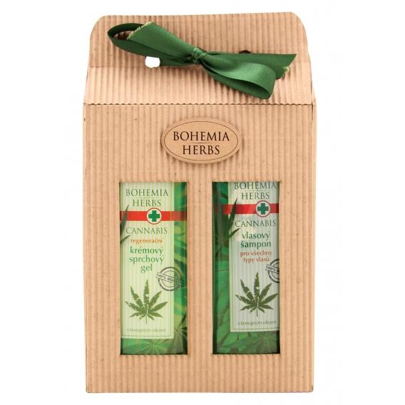 Darčekové balenie Cannabis - sprchový gél 250 ml, vlasový šampón 250 ml