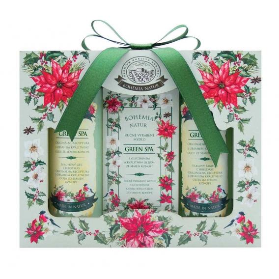 Darčekové balenie Green SPA - vlasový šampón, mydlo a sprchový gél