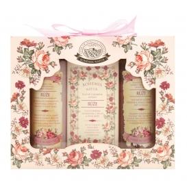 Darčekové balenie RUŽA - vlasový šampón, mydlo a sprchový gél