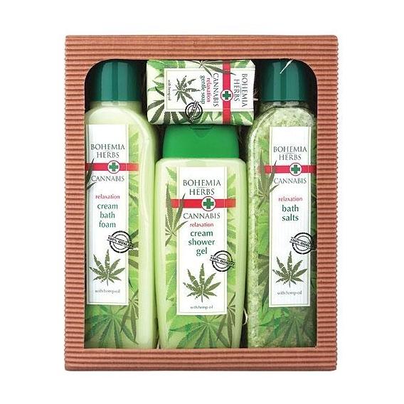 Bohemia Bylinky - konopné kozmetiky - darčekové balenie - soľ + pena + gél + mydlo