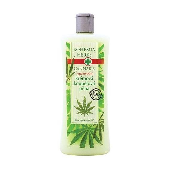 Bohemia Herbs - cannabis - konopná krémová koupelová pěna 500 ml