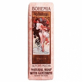 Toaletné mydlo 125 g Mucha Art nouveau - šípky a ruže