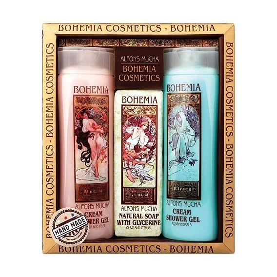 Art nouveau kosmetika Mucha - 2x sprchový gel a mýdlo
