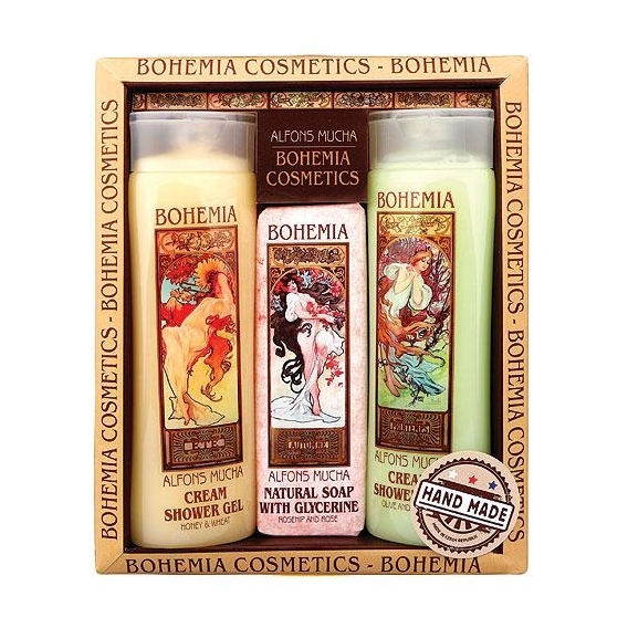 Art nouveau kosmetika Mucha - 2x sprchový gel a mýdlo č.2