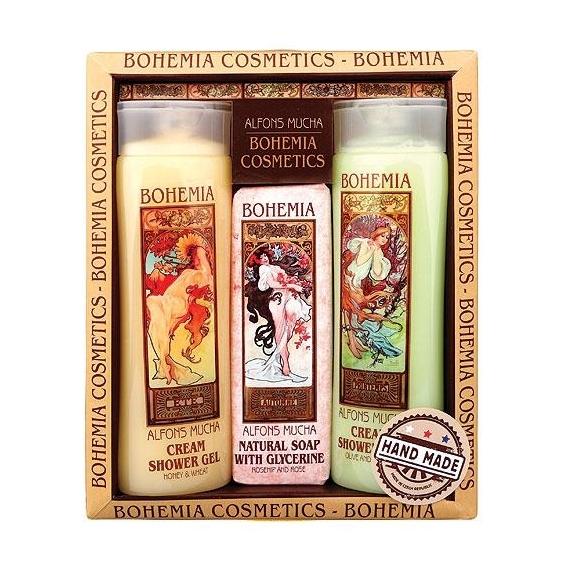 Art nouveau kozmetika Mucha - 2x sprchovací gél a mydlo č. 2