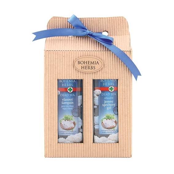 Bohemia Herbs - dárkové balení kosmetika Mrtvé moře - sprchový gel a vlasový šampon